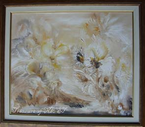 Flowers, oil on canvas, Nevena Biskupovic, 2006