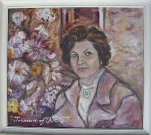 Portrait of Nadja Poliakova-Svintila, oil on canvas, Margarita Boteva, 1995