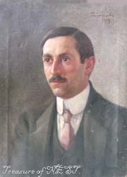 Portrait of Georgi Nikolov-Svintila, oil on canvas, 1918