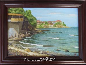 Sozopol, oil on canvas, 2001