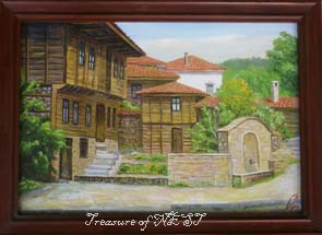 Koprivshtiza-Town, oil on canvas, 2001