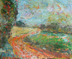 The Artist Adalberto Lütkemeyer, Paisagem no Caita 1 -óleo- 65x 80 cm . Price USD ask