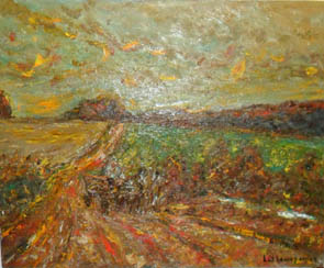 The Artist Adalberto Lütkemeyer, Paisagem no Caita-óleo- 65x 80 cm. Price USD ask