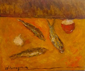 The Artist Adalberto Lütkemeyer, Peixes-óleo- 48 x 57 cm. Price USD ask