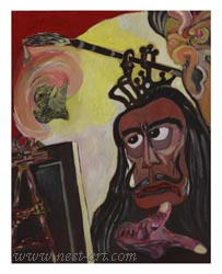 The Artist Dilyan Dochev – DiL,  Salvador Dali, 40 x 50 cm., Oil, Price 300 EUR