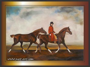 Interpretation from George Stubs, 92x75 cm., oil on canvas, 1800 EUR