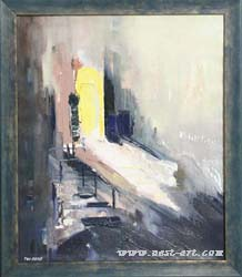 "The gallery of artists Margarita Atanasova and Veselin Vasilev, ""Roats-2"", Oil, 55/46 cm., Price EURO 350"