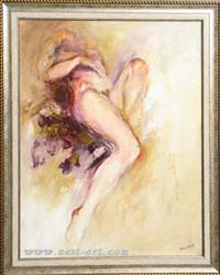 "The gallery of artists Margarita Atanasova and Veselin Vasilev,   ""Naked girl"", soft pastel, 72/56 cm., Price EURO 110"