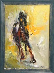 "The gallery of artists Margarita Atanasova and Veselin Vasilev,  ""Without name"", Oil, 50/35 cm., Price EURO 300"