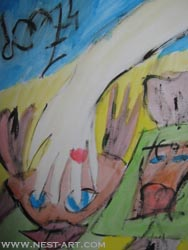 Paka Traykova, Proposal - water colors on paper 25/35 cm., Price EUR 555
