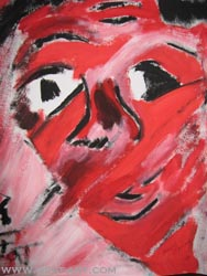 Paka Traykova, In the red - Tempera on paper 35/50 cm. Price EUR 1116