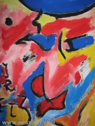 Paka Traykova, Pointing - Tempera on paper 35/50 cm. Price EUR 1116