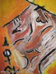 Paka Traykova, Improvisation - Tempera on paper 35/50 cm. Price EUR 1116