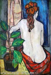 Woman, 50/70 cm. oil on canvas, 450 EUR