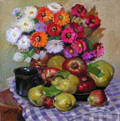 Mr. Simeon Krystev, Still life with quinces 2, 40x40 cm., oil, Price: 300 EUR